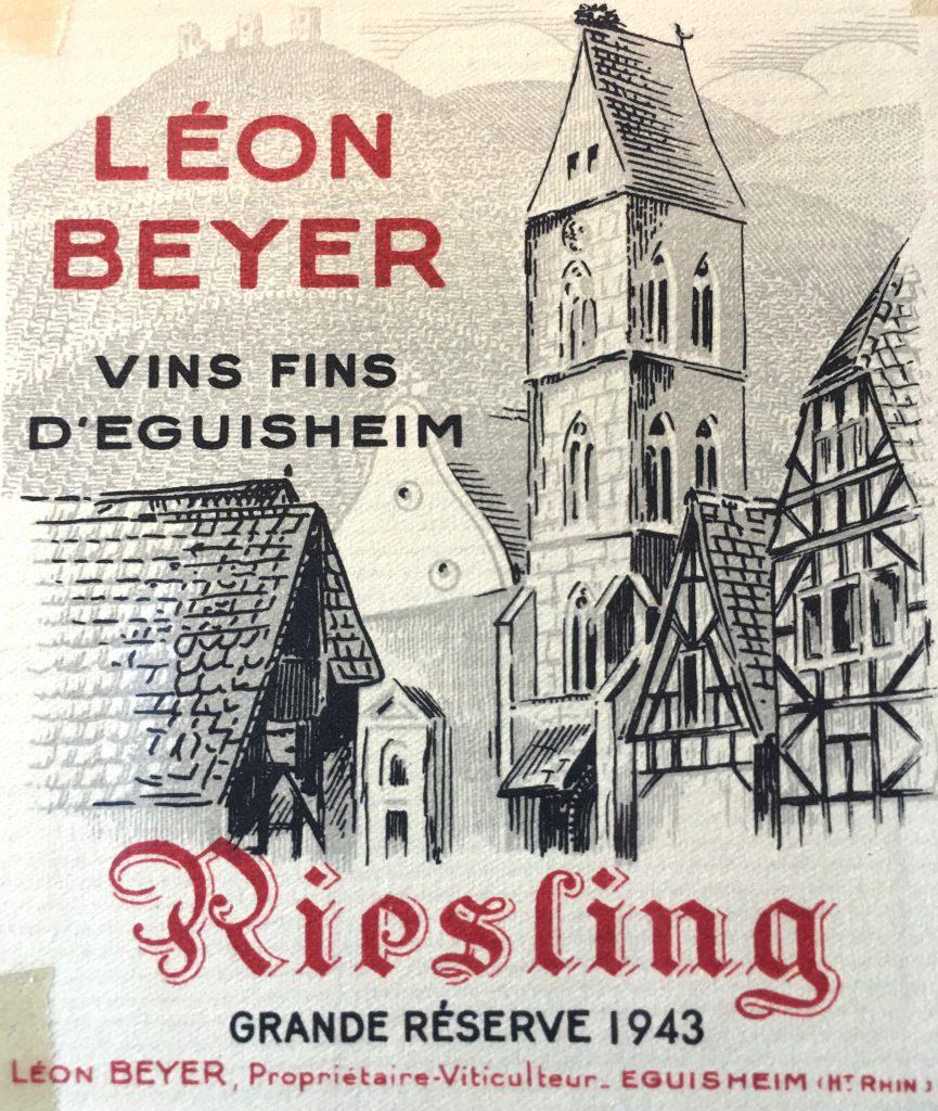 Etiquette Domaine Léon BEYER - 1943 - AJI Magazine