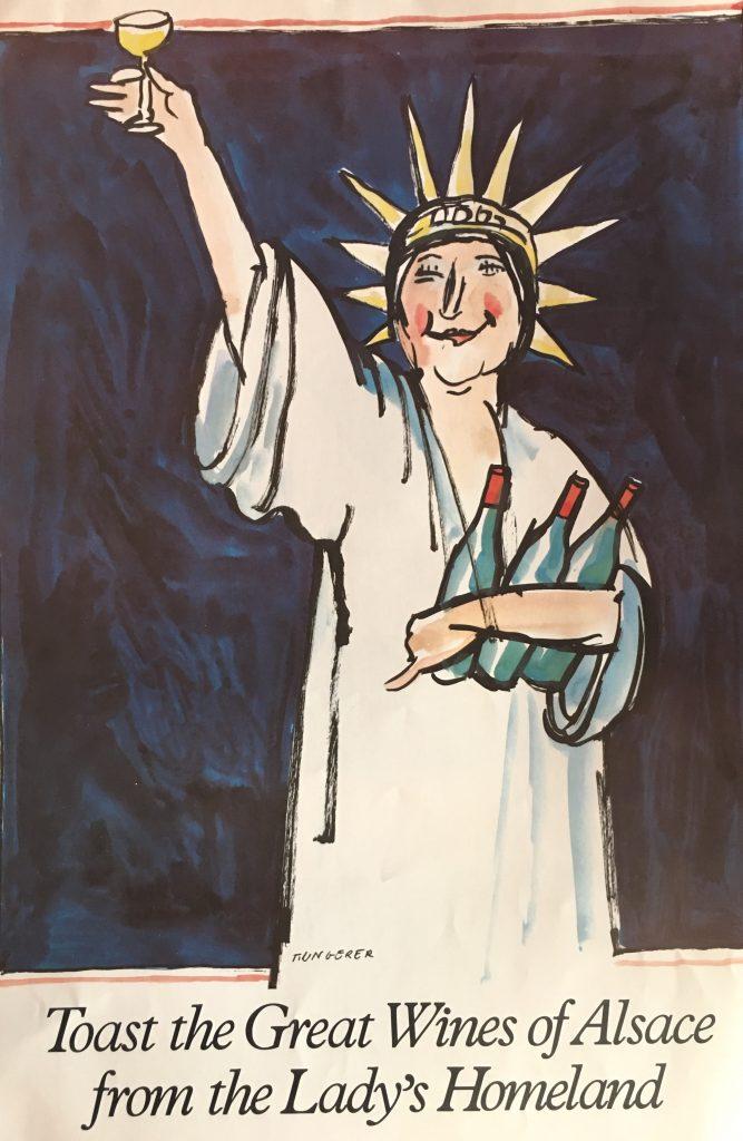 Commémoration Centenaire de la Statue de la Liberté - 1986 - Affiche Tomi UNGERER AJI Magazine
